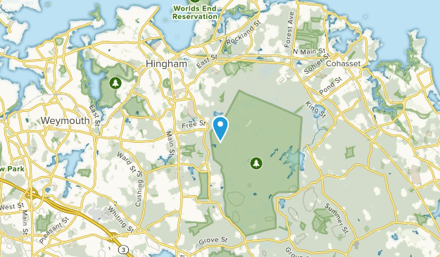 Hingham Center, Massachusetts Map