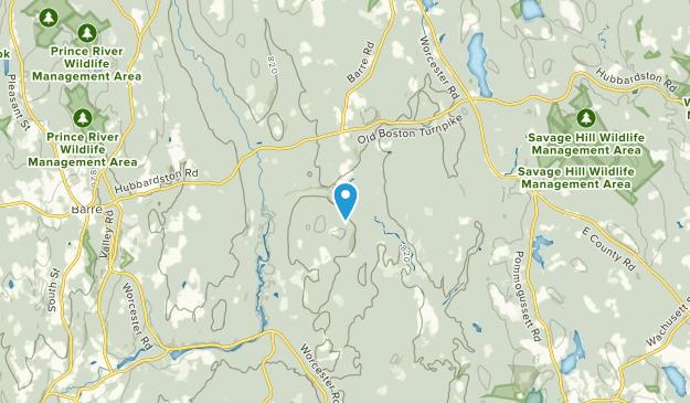 Hubbardston, Massachusetts Map