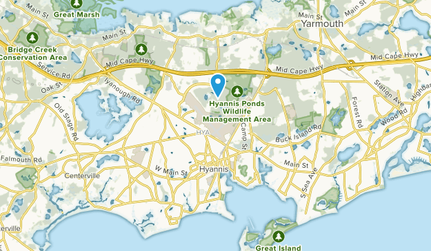 Hyannis, Massachusetts Map