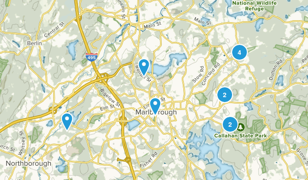 Marlborough, Massachusetts Map