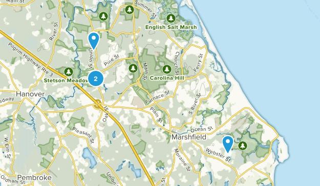Marshfield, Massachusetts Map
