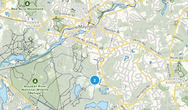 Maynard, Massachusetts Map