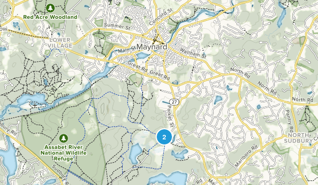 Maynard, Massachusetts Map