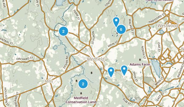 Medfield, Massachusetts Map