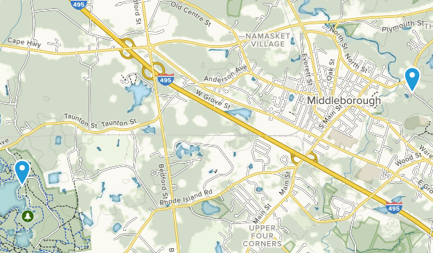 Middleborough, Massachusetts Map