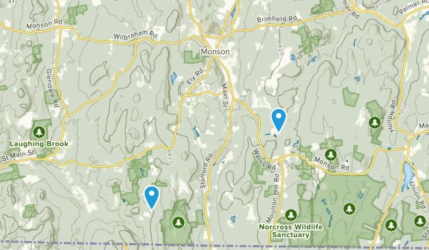 Monson, Massachusetts Map