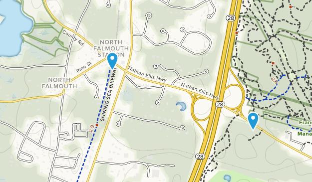 North Falmouth, Massachusetts Map