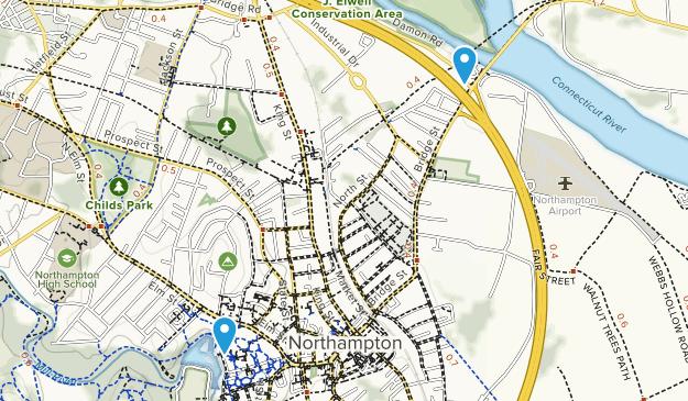 Northampton, Massachusetts Map