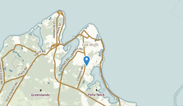 Oak Bluffs, Massachusetts Map