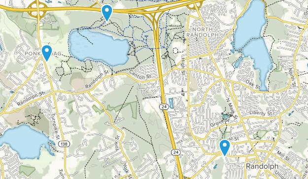 Randolph, Massachusetts Map