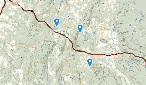 trail locations for Richmond, Massachusetts