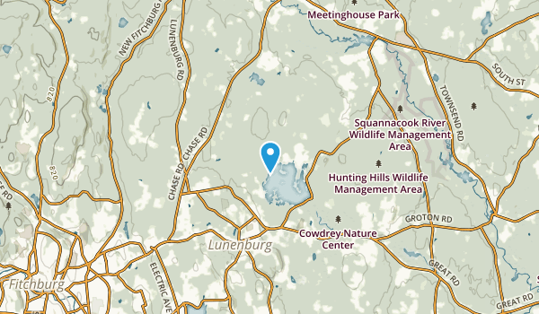 South Row, Massachusetts Map