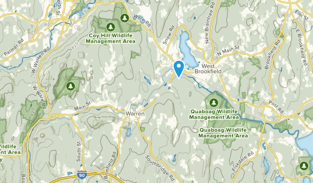 West Warren, Massachusetts Map