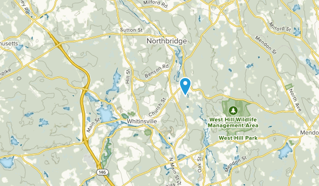 Whitinsville, Massachusetts Map
