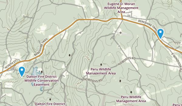 Windsor, Massachusetts Map