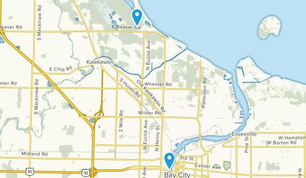 Bay City, Michigan Map