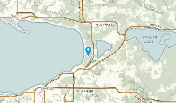 Bear Creek, Michigan Map