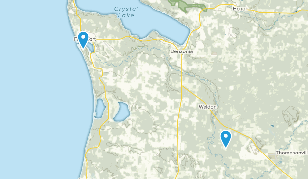 Benzonia, Michigan Map