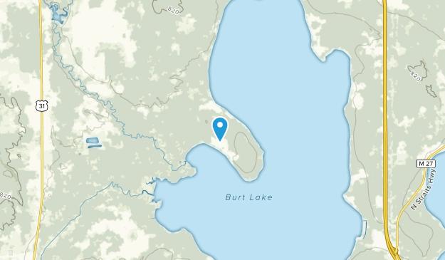 Brutus, Michigan Map