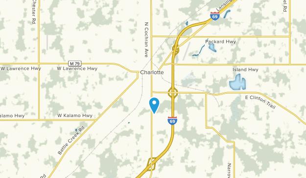 Charlotte, Michigan Map
