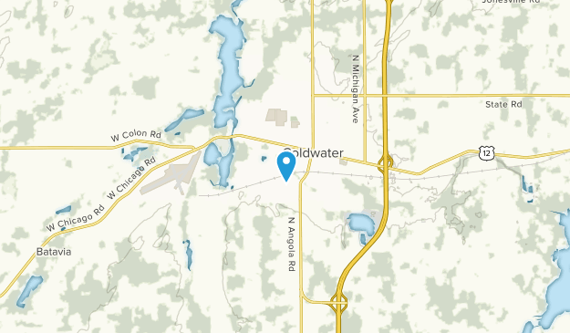 Coldwater, Michigan Map