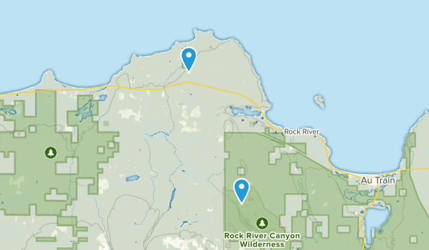 Deerton, Michigan Map