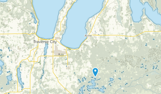East Bay, Michigan Map