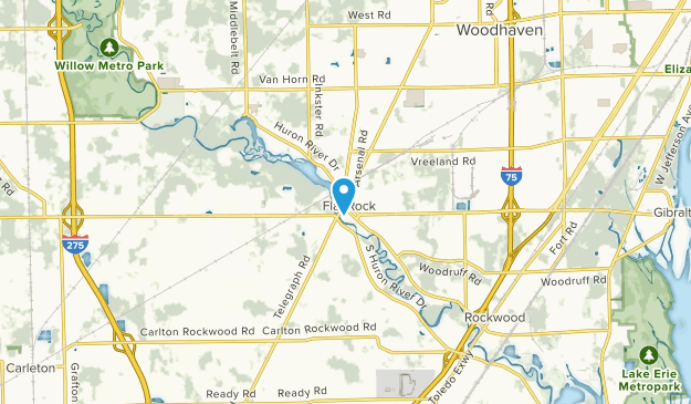 Flat Rock, Michigan Map