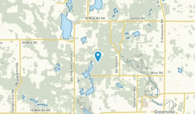 Gowen, Michigan Map