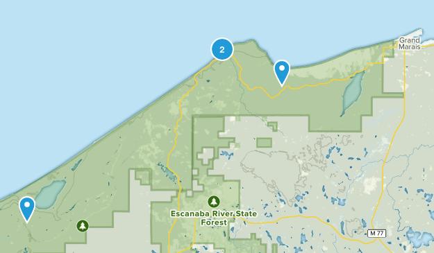 Grand Marais, Michigan Map