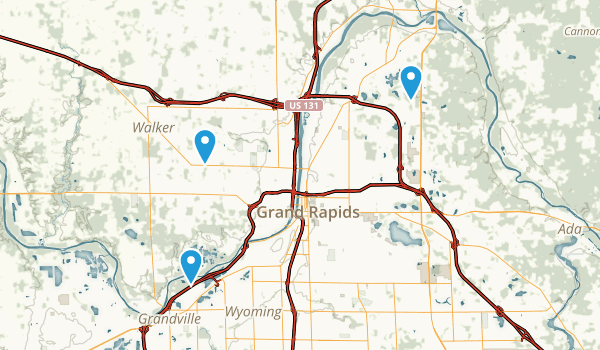 Best Trails Near Grand Rapids Michigan Photos Reviews - Us 131 map