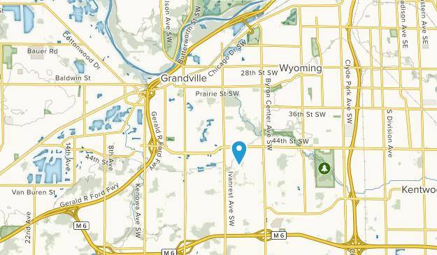 Grandville, Michigan Map