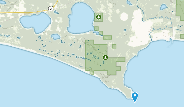 Gulliver, Michigan Map