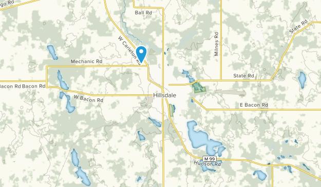 Hillsdale, Michigan Map