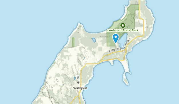 Leelanau, Michigan Map