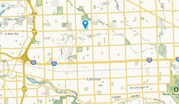 Livonia, Michigan Map