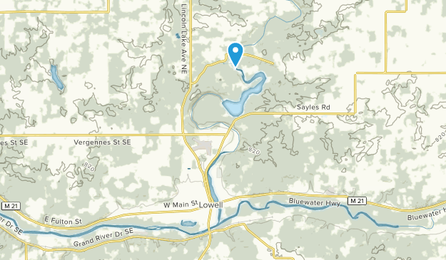 Lowell, Michigan Map