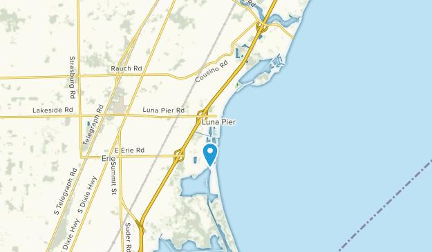 Luna Pier, Michigan Map