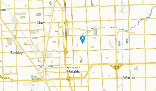 Madison Heights, Michigan Map