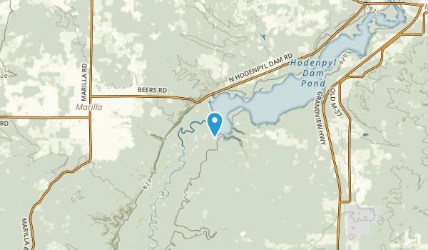 Marilla, Michigan Map
