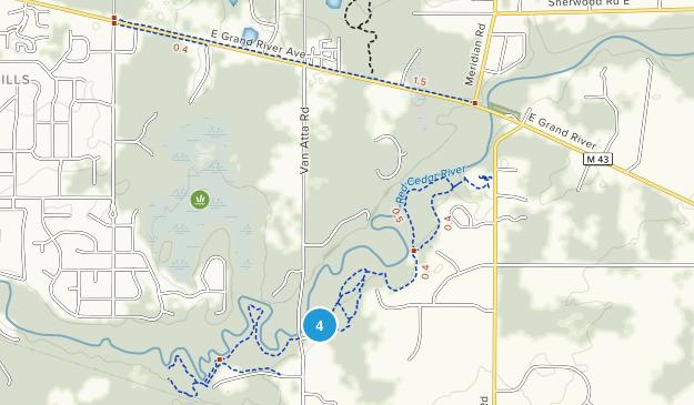 Meridian, Michigan Map