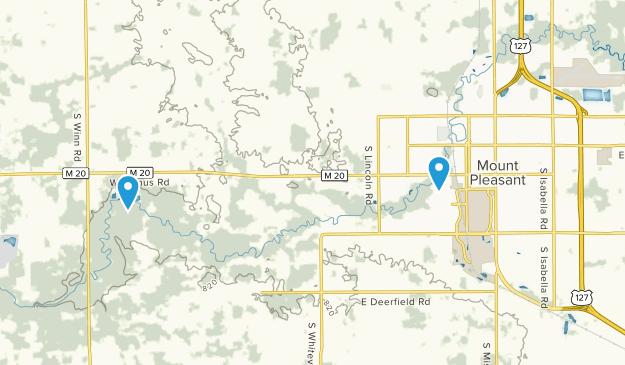 Mt Pleasant, Michigan Map