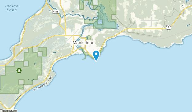 Naubinway, Michigan Map
