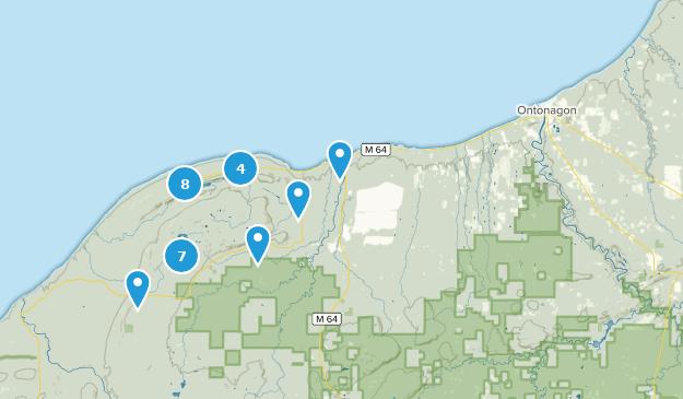 Ontonagon, Michigan Map