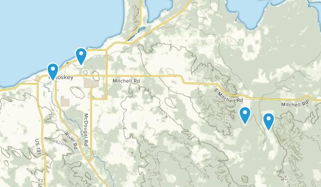 Petoskey, Michigan Map