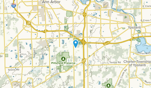 Pittsfield, Michigan Map