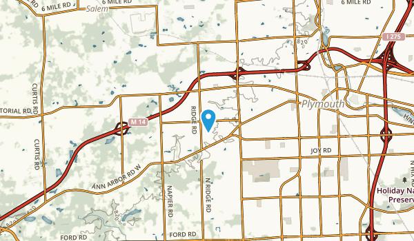 Plymouth Township, Michigan Map