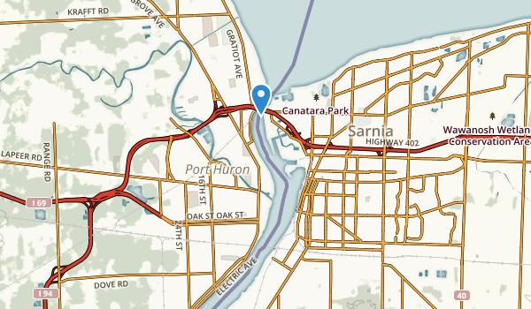 Port Huron, Michigan Map
