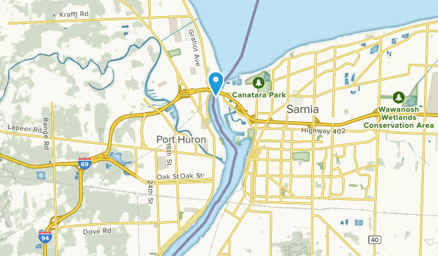 Port Huron, Michigan Map