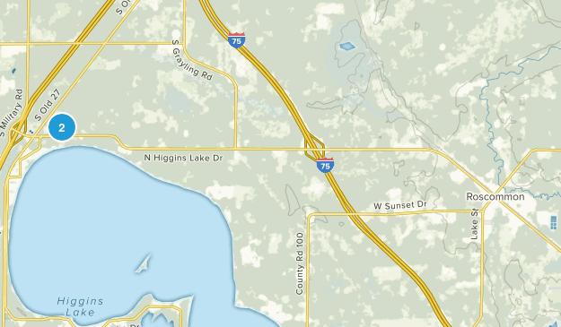 Roscommon, Michigan Map